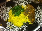 Moroccan Chicken, Quinoa + Balsamic Sauteed Kale